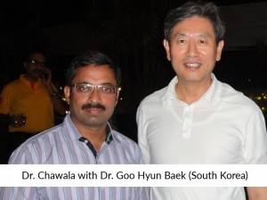 Dr Chawla with Plastic Surgeon of Korea